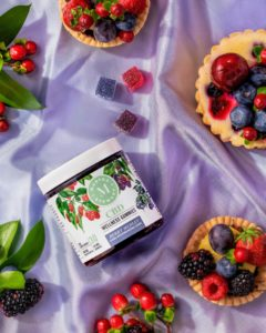 My delicious berry medley includes red raspberry, huckleberry and black raspberry - flavors I've personally developed using inspiration from my own gardens. And there are no byproducts in the CBD isolate, so it is a consistent and predictable serving every time. (Photo by Kimberly Tran)