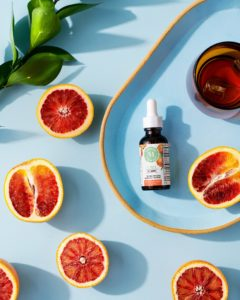 This flavor is blood orange. The blood orange is a type of orange with a deep crimson, almost-blood-colored flesh. It has citrus notes with a subtle raspberry-like flavor. (Photo by Kimberly Tran)
