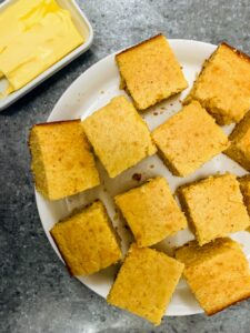 To go with the chili - homemade cornbread. The recipe is from Chef Molly's mom.
