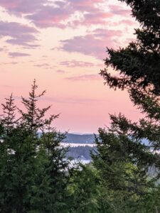 And here's a sunset photo taken by Cheryl - from my terrace overlooking Seal Harbor. If you haven't been to Maine, I encourage you to drive up and visit - you won't be disappointed.