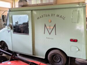 And, do you recognize this? The Martha by Mail truck was a postal delivery truck from the 80s, which I bought years ago and had painted green.