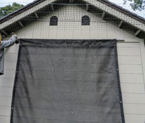 This shade cloth will be a nice addition to the yard while the weather is still quite warm.