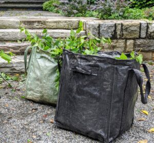 All the cuttings are placed into my Martha Stewart Multi-Purpose Heavy-Duty Garden Tote Bags from my shop on Amazon. We use these bags all over the farm. Many bags of debris are discarded every day.