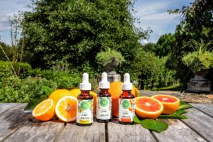 I also offer three drop formula varieties - blood orange, Meyer lemon and unflavored. (Photo by Mike Krautter)