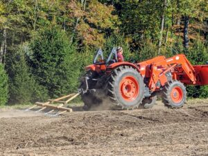 Raking is necessary in order for the seeds to come in contact with the soil so they can germinate properly.