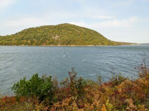 Here is the majestic Acadia Mountain, a great spot for seeing views in all directions including Somes Sound. Oddly enough, it is the only peak on Mount Desert Island that runs east-west rather than north-south.