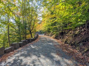 """Stones along the edges of the carriage roads are called """"Rockefeller's Teeth""""."""