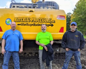 For years, I've used a team from Material Processors, Inc. – a 30-year old company that focuses on recycling green waste, and clearing and preparing land spaces for development. Here's a nice photo of Dan, owner/president Jeff, and Adam.