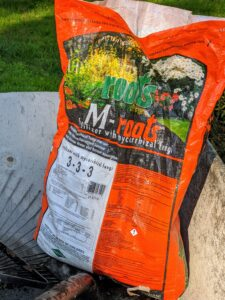 We use M-Roots with mycorrhizal fungi, which helps transplant survival and increases water and nutrient absorption.