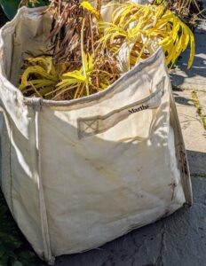 The crew always uses my handy Multipurpose XL Garden Totes available at my shop on Amazon. They are so durable and useful.