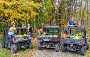 In the end, Elvira, Enma, Ryan, and Brian filled three ATV vehicles!