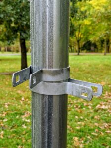 These are called tension bands and are used to attach the fencing fabric and to secure any gate posts.