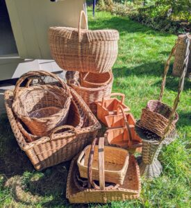 Some of my baskets are antique, some more contemporary. The oldest known baskets have been carbon dated to between 10-thousand and 12-thousand years old.
