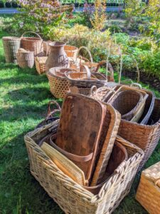 Baskets were needed as containers for everything imaginable – food, clothing, storage and transport. Fruit, nuts, seeds and dried meats were often collected and stored in these hand-made containers.