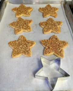 For the holidays, Robert will also make festive Butter Crunch Christmas Star cookies.