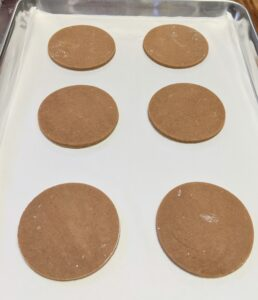 Robert chills his cookies before he bakes them to keep their form - from hours to overnight.