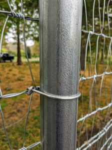 All the fencing is carefully attached by hand.