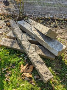 I have edging stone around my vegetable garden, my flower garden and in other areas of the farm. It is a great way to give the area a clean and finished appearance, but also to help deter small creatures from digging.
