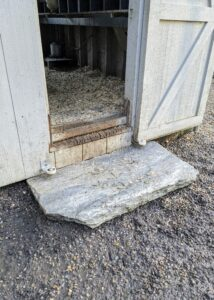 Any wobbly steps are replaced with new, wider natural stone pieces. This one is perfect and looks so natural.