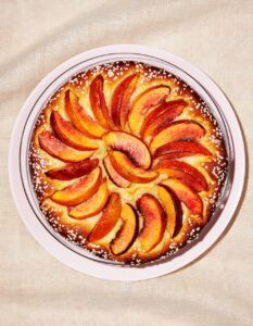 Nectarine Kuchen is a soft, fruit-topped cake that can be dressed with nectarines or any stone fruit you like. (Photo by Ethan Calabrese)