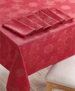 Dress your table with my 120-inch Tablecloth & 8 Napkins set, also from Macy's.