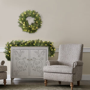 I also offer this Classic Spruce Pre-Lit Garland with 40 Clear or White Lights on Wayfair. It measures six-feet long for endless holiday decorating possibilities.