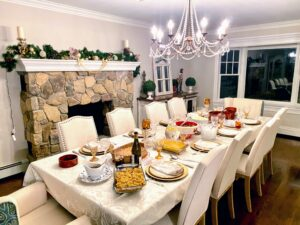 Marquee SVP of Marketing, Stella Cicarone, hosted Thanksgiving at her home. Here is her beautifully set table.