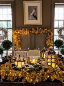 The village filled an entire table. It was such a beautiful centerpiece - everyone loved it. I hope you are baking lots of beautiful cookies this holiday. No matter how small, every Christmas gathering can be special. See more photos from last year's gathering in this December 2019 blog. Happy holidays.