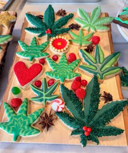 Some of the most memorable cookies were these fun cannabis leaves.