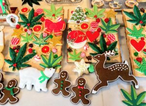 On this end of the counter, more cookies - many of these baked and decorated by @sweetdaniB.