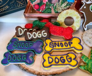"And we couldn't decorate cookies without adding some ""Dogg Bones."""