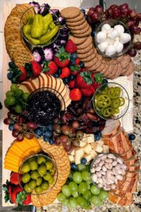 Shqipe made her first charcuterie board for the occasion - it's so beautifully and thoughtfully created.