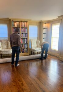 Westport Carpet and Rugs came right on time with my new sisal carpets. The team carried the rolls of carpet and carpet padding into the home and went to work right away.