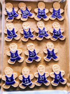 And some charming basketball uniformed gingerbread players.