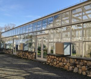 This is the exterior of my Vegetable Greenhouse. It is located near my Equipment Barn next to the Hay Barn and Tropical Hoop House. This structure uses minimal artificial heat, where many cold hardy crops, such as root vegetables and brassicas, can be grown and harvested through the winter months.