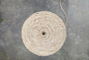"The great ""burlapping"" project also requires rolls and rolls of jute twine."