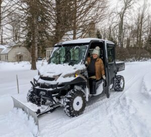 And here I am back on the carriage road leading to my home. I hope you saw the video on my Instagram page @marthastewart48 plowing the snow down the Boxwood Allee. How much snow did you get with this storm? Share your comments below.