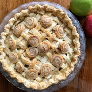 And for dessert - this sour cream apple pie.