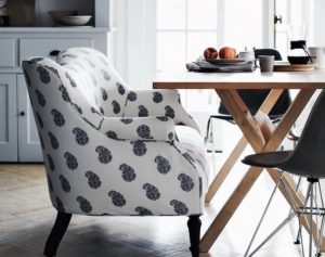All-purpose upholstery can be used indoors and out and can make cleaning up spilled coffee, sticky fingers and muddy paws a cinch. In a variety of pleasing patterns, it's ideal for high traffic areas such as the kitchen and family room.