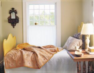 Convert a favorite tablecloth, vintage linen, or large swath of fabric into a quilt. It's an easy way to revitalize your bedroom decor while keeping you warm. This classic DIY project is also in the book.