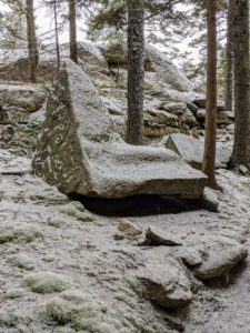 In the woodlands near my home sits this oddly shaped rock - looks almost like a comfortable chaise lounge.