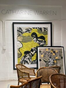 Catharine is best known for her landscape-inspired abstract works and use of vibrant colors.