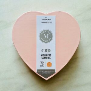 And, look at this - Canopy Growth and I are also offering this Martha Stewart CBD Limited Edition six-flavor sampler gift box for Valentine's Day. Check out my video on my Instagram page @MarthaStewart48.