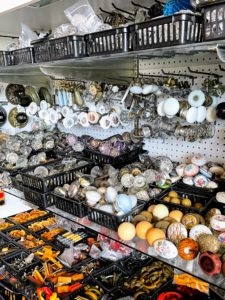 Antique and vintage doorknobs were made in a variety of materials, such as wood, porcelain, milk glass, Bakelite, and metal.