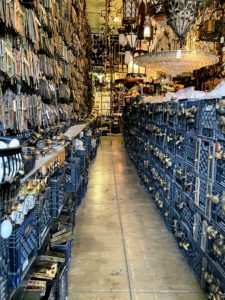 The aisles are completely filled from floor to ceiling. There are more than one million household objects one cannot live without - ranging in vintage from the 1860s through the 1960s.