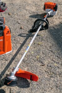 This is STIHL's professional loop-handle trimmer. It delivers long run times and simplified starting. It's great for cutting dense thick weeds in summer.