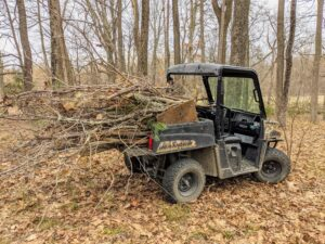 Tight areas are better accessed by our trusted Polaris ATVs. These vehicles can carry quite a bit.