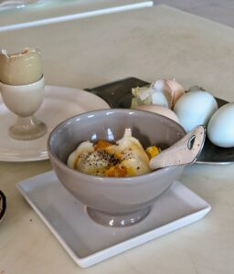 Steamed eggs for breakfast - so easy to make and so flavorful and healthy too. Don't you just one one now? Enjoy.