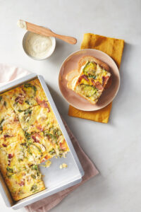 "Here's a ""Good Thing"" I often make at the farm - a no-fuss fritatta. Just whisk together a dozen eggs, fold in vegetables such as onions, potatoes and peppers, and cook at 400-degrees Fahrenheit for about 20-25 minutes. I serve it hot, warm or cool."