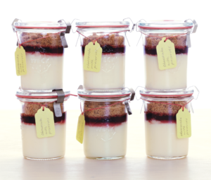 Instead of making one cheesecake, why not try making desserts in individual jars - easy to prepare and very portable. Top the cheesecake filled jars with layers of raspberry preserves and graham cracker crumbs to create delicious treats that are ready to go.